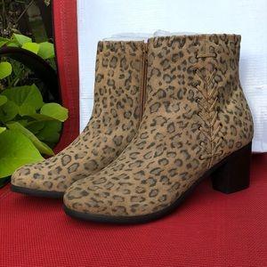 Matisse Steellah Leather Boot Cheetah Print - New